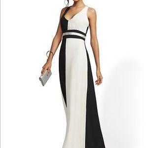 Beautiful Maxi black and white winter dress